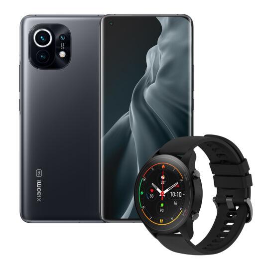 Xiaomi Mi 11 8/256 + Mi Watch (Szürke/Fekete)